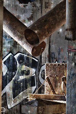 Abandoned Digital Art - Concrete Central 8 by Chuck Alaimo