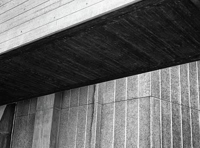 Concrete Detail - National Theatre London  Art Print by Philip Openshaw