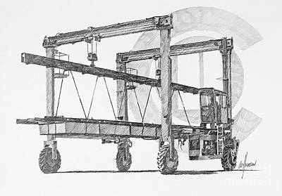 Drawing - Concrete Float Conveyance by James Williamson