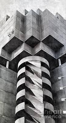 Concrete Geometry Art Print