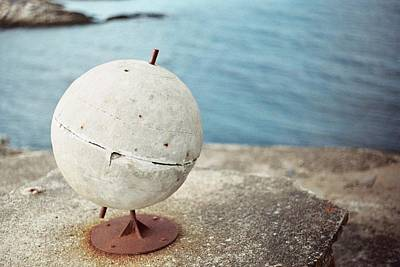 Concrete Globe Art Print by Gregory Barger