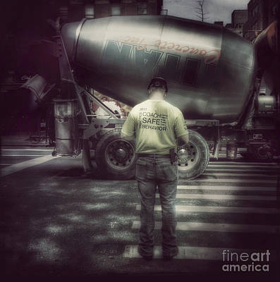Photograph - Concrete Inc - New York by Miriam Danar