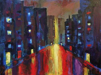 Painting - Concrete Jungle by Angel Reyes