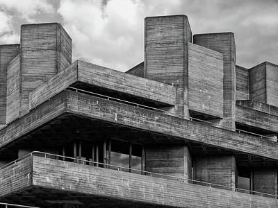 Concrete - National Theatre - London Art Print by Philip Openshaw