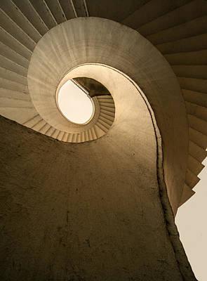 Photograph - Concrete Spiral Stairs by Jaroslaw Blaminsky