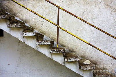 Photograph - Concrete Stair Grunge Wall by Jan Brons