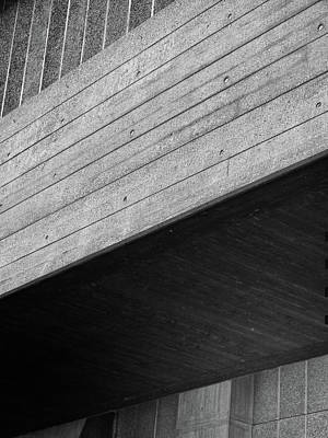 Concrete Textures - National Theatre London  Art Print by Philip Openshaw
