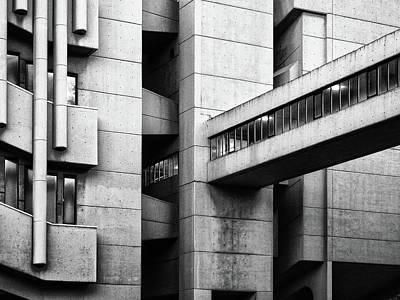 Concrete Walkway Print by Philip Openshaw