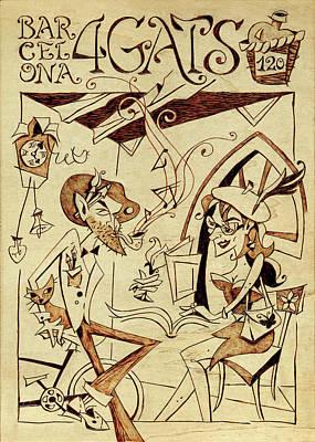 Concurs Disseny Grafic - Cartell Restaurant Els Quatre Gats Barcelona Original by Arte Venezia