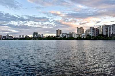 Comic Character Paintings - Condado bay sunset by JL Images