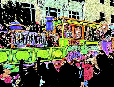 Tourist Attraction Digital Art - Conde Cavaliers Locomotive by Marian Bell