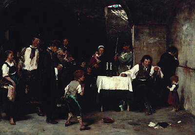 Condemned Painting - Condemned Cell by Mihaly Munkacsy