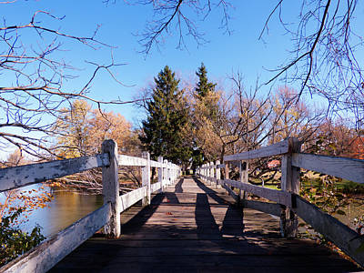 Photograph - Ellicott Creek Park - Foot Bridge 1 by Leslie Montgomery