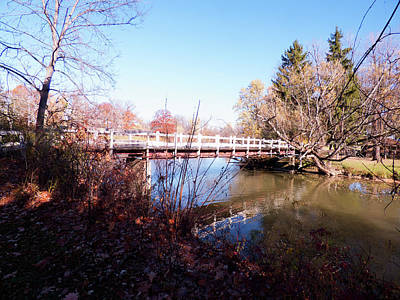 Photograph - Ellicott Creek Park - Foot Bridge 2 by Leslie Montgomery
