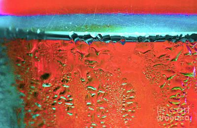Photograph - Condensation Abstract Persimmon by Karen Adams