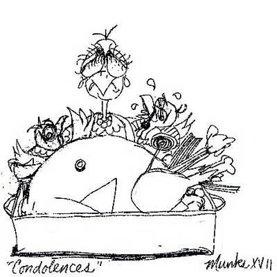 Drawing - Condolences by John Stillmunks