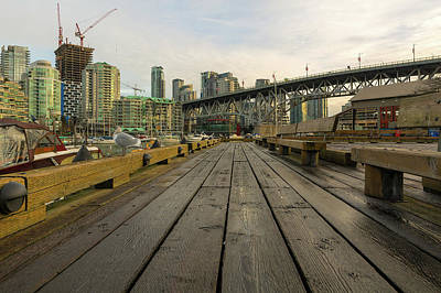 Photograph - Condominium Buildings Along Granville Island Vancouver Bc by David Gn