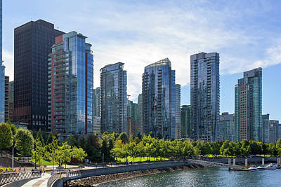 Photograph - Condominium Waterfront Living In Vancouver Bc by David Gn