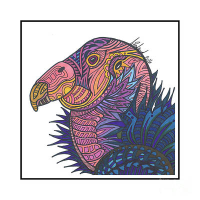 Condor Drawing - Condor #15 by Allie Rowland