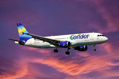 Condor Airbus A320-212 Art Print