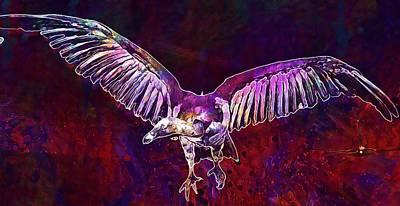 Condor Digital Art - Condor Bird Of Prey Museum  by PixBreak Art