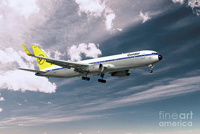 Condor Digital Art - Condor Boeing 767-300  by J Biggadike