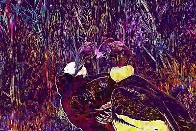 Condor Digital Art - Condor Condors Andean Condor Bird  by PixBreak Art