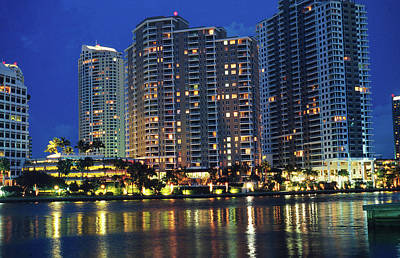 Photograph - Condos On Biscayne Bay by Carl Purcell