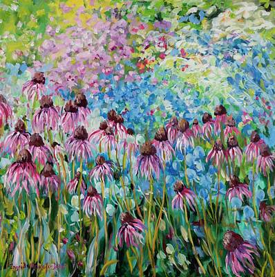Painting - Cone Flowers by Ingrid Dohm