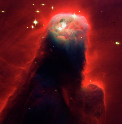 Hubble Space Telescope Photograph - Cone Nebula by Mark Kiver