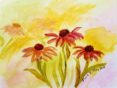 Painting - Coneflower Companions by Julie Brugh Riffey