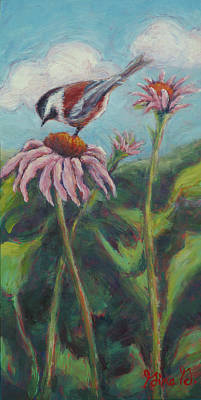 Painting - Coneflower Peep by Gina Grundemann