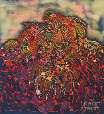 Tapestry - Textile - Coneflower Spirit by Carol Law Conklin
