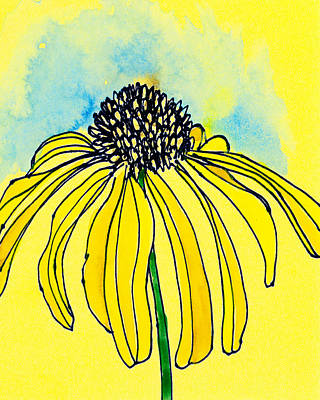 Coneflower Art Print by Tonya Doughty