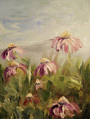 Art Print featuring the painting Coneflowers by Donna Tuten