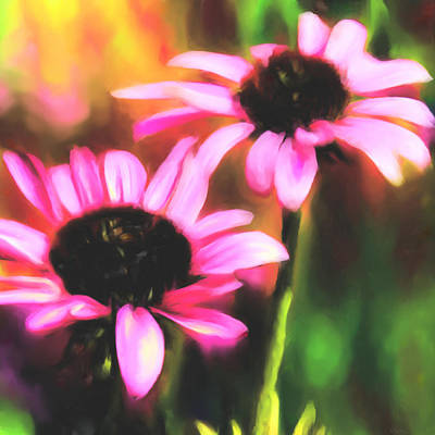 Digital Art - Coneflowers by Sand And Chi