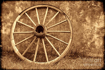 Photograph - Conestoga Wagon Wheel by American West Legend By Olivier Le Queinec