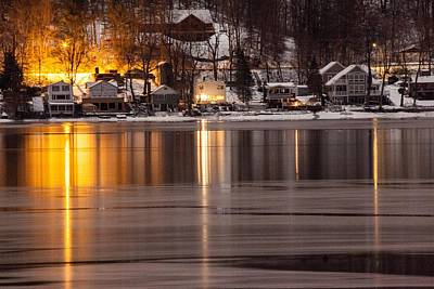 Photograph - Conesus Lake Freeze  by Richard Engelbrecht
