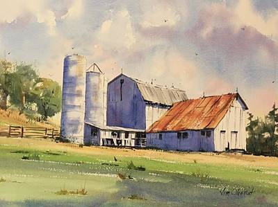 Oberst Painting - Conesville Barn by Jim Oberst