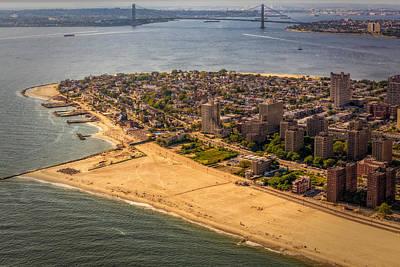 Aerials Photograph - Coney Island Beach by Susan Candelario