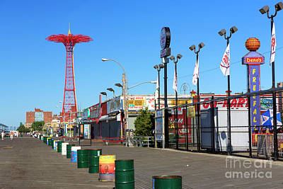 Photograph - Coney Island Boardwalk Colors by John Rizzuto