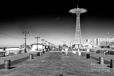 Photograph - Coney Island Boardwalk Walk by John Rizzuto