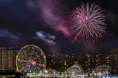 Photograph - Coney Island Fireworks by Susan Candelario
