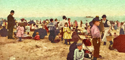 Painting - Coney Island by Gary Grayson