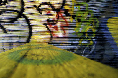 Coney Island Graffiti Print by Mike Lindwasser Photography