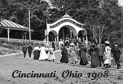 Coney Island In Cincinnati 1908 Art Print