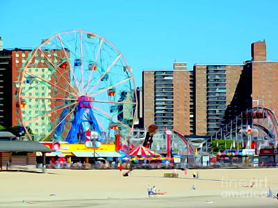 Photograph - Coney Island Landscape #2 by Ed Weidman
