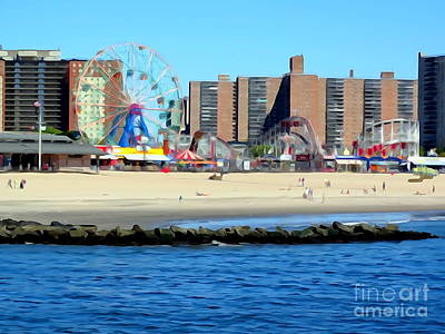 Photograph - Coney Island Landscape by Ed Weidman