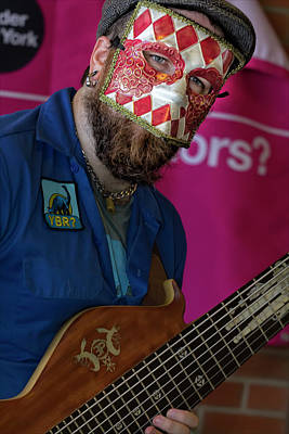 Musicians Royalty Free Images - Coney Island Masked Musician Royalty-Free Image by Robert Ullmann