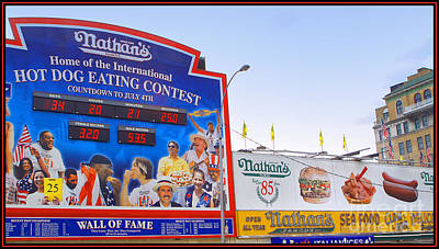 Nathans Photograph - Coney Island Memories 10 by Madeline Ellis